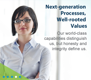 Next-generation processes, well-rooted values.